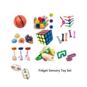 Sensory Fidget Toys Set 22 Pcs Stress Relief and Anti-Anxiety Tools Bundle for Kids and Adults