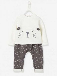 High Quality 100% Cotton Cute Baby Suits with Applique