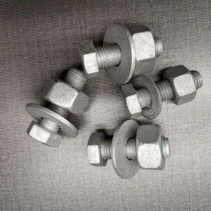 High Strength Bolt and Nut Used for Roller Barrier Rolling Guardrail Fencing System