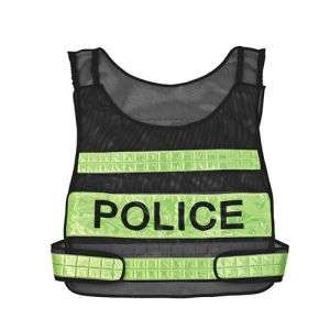 High Visibility 100% Polyester Reflective Police Vest (R110)