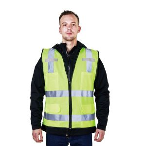 High Visibility Vest with Reflective Tape with Multi Pockets R128