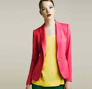 Red color Hight Quality Slimming Leisure Outwear Women Suits