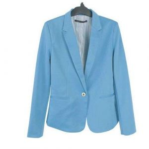 Sky Blue Hight Quality Slimming Leisure Outwear Women Suits