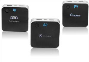 LCD Digital Display  Black Color Power Bank with HD Advertising Logo for Promotion