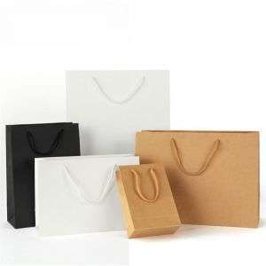 Hot sale white paper bag for shopping with custom logo