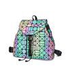 Holographic Backpack Laser Luminous Women Geometric Teenager School Bags