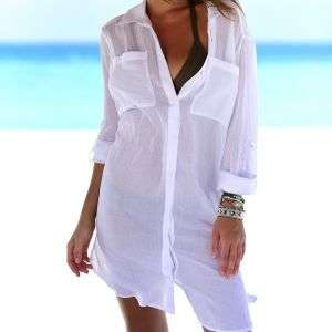 Hot Sale Women White Color  Swimsuit Cover-UPS