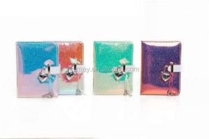 Vogue Glitter TPU Iridescent Holographic Hardcover Notebook With Heart Shape Lock Closure