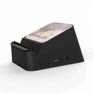 Mini Wireless Speaker Phone charger with mobile holder