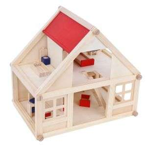 Hot sale wooden doll house with furniture the simulation scene educational toys for kids
