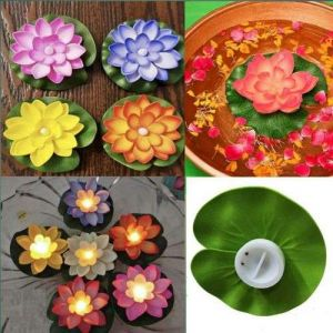 Multi Color Lotus LED Candle Floating Candle Flameless Candle Light Beautiful Festival Lamp and Decoration for Home, Garden ( Pack of 2 )