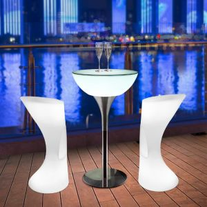 White LED Light Table Coffee Shop KTV Bar Indoor & Outdoor Luminous Furniture