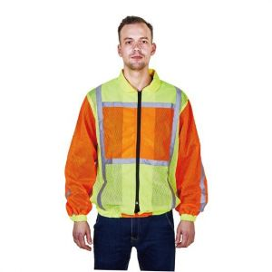 Long Sleeve Safety Warning Coat Yellow and Orange RC100