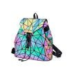 Luminous Backpack Women Laser School Hologram Geometric Backpack Bags