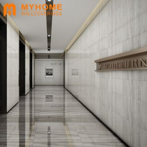Luxury Design 3D Marble Plastic Flooring and Wallpaper for Hotel