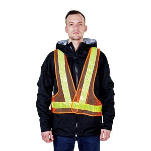 Manufacturer Reflective Uniform Traffic LED Safety Vest Workwear R160