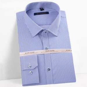 Men′s Striped Oxford Spinning Comfortable Breathable Design Dress Blue Color  Shirts