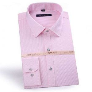 Men′s Striped Oxford Spinning Comfortable Breathable Design Dress  Pink Color Shirts