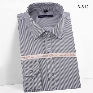 Men′s Striped Oxford Spinning Comfortable Breathable Design Dress Black Color  Shirts