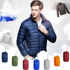 Dark MidNight Blue Men Winter Lightweight Packable Puffer Jacket
