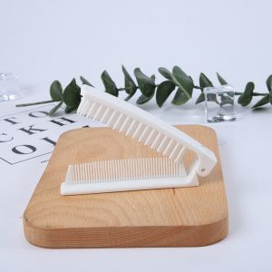 Mens Hotel Plastic Custom Logo Pocket Foldable Comb