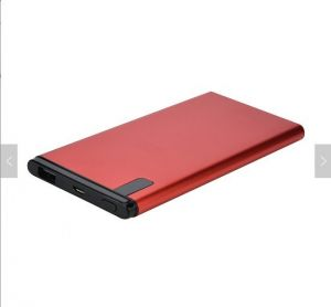 Metal Battery  Red Color Power Bank for Customized Logo
