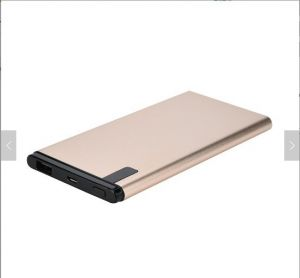 Metal Battery  Gold Color Power Bank for Customized Logo