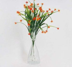 Mini Plastic Handle Silk Flower Artificial Plant