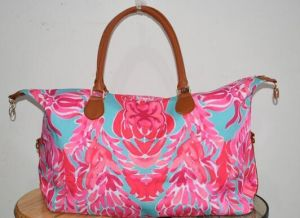 Monogram Cavas Bag Lilly Pulitzer Inspired Weekender Bag