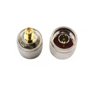 N Male Coaxial Plug Connector to SMA Female RF Coaxial Adapter