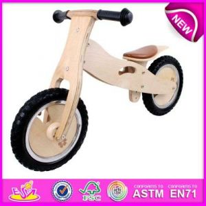 New and Popular Kids Bicycle, Wholesale Cartoon Kids Bicycle, Hot Sale Wooden Bicycle Toy for Baby W16c099