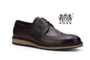 Dark Brown Color Leather Comfortable Casual Shoes 1