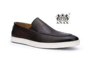 Brown Color Men′s Classic Loafer Leather Shoes