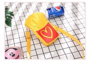 New Design French Fries Style Mini Crossbody Silica Gel Bag for Girls Purse
