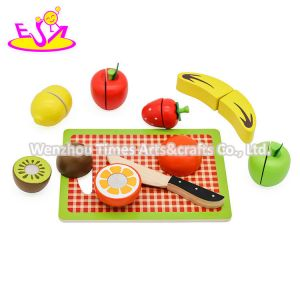 New Hottest Pretend Play Wooden Cutting Fruit Set Toy for Children W10b358