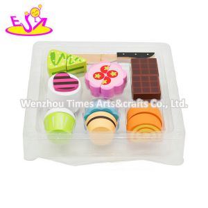 New Hottest Simulation Play Wooden Doll Cake Set Toy for Children W10b356