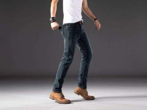 New Men′s Slim Elastic Jeans Fashion Business Classic Style Skinny Jeans