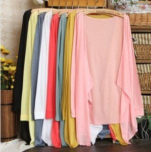 Multi Color No Buckle Shawl Thin Air Conditioning Clothes Knitting Cardigan