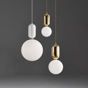 Nordic Modern Simple Glass Ball Pendant Lamp