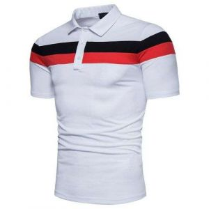 White Color Men Golf Polo Tee Shirt with Your Own Design Digital Printing Polo Shirt