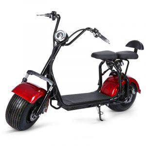 X3 60V Big Harley Scooter Urban Two-Person Speed Scooter Electric Scooter Sports Car Adult Wheel Wide Tire Skateboard 1500W Folding Electric Motorcycle