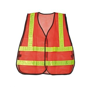 Orange High Visibility PVC Reflectors Traffic Vest R112-2