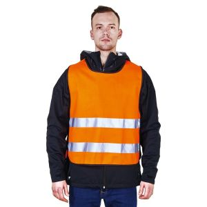 Orange Reflective Warning Vest with Elastic Band R123