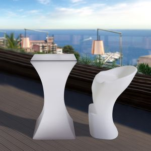 Outdoor Illuminated white LED Light Tables & Chairs