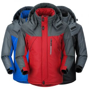 Multi Color Plus Thick Velvet Windproof Down Coat Winter Men Waterproof Jacket