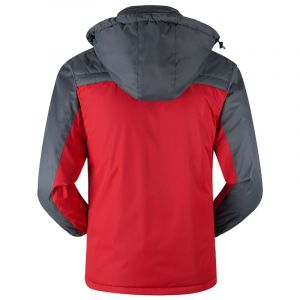Red Color Plus Thick Velvet Windproof Down Coat Winter Men Waterproof Jacket