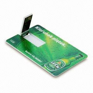 Promotional Business USB Credit Card Flash Drive with Your Personal Logo