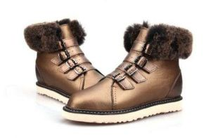 Gold color Winter Classic Fashion Women′s Shoes and Boots Replicas Shoes Wholesale Market Outdoor Classic Fluff Sheepskin Boots Men′s Footwear Designer Bailey Bow Warm Me