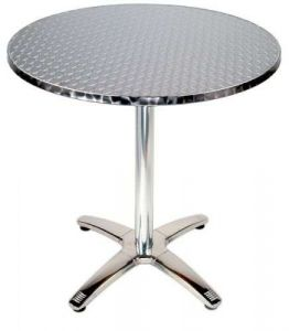 Scratch Resistant Whloesale Restaurant Furniture Patio Party Aluminum Steel Round Dining Table Top