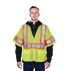 Short Sleeve Safety Warning T-Shirt with Reflective Tapes RM152